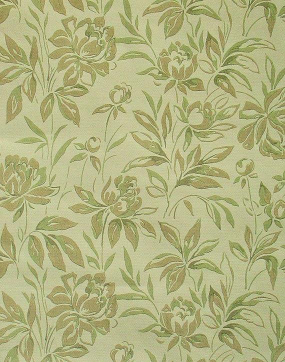 Roll Wallpaper Vintage Wallpaper Roses Botanical Pattern Olive Wallpaper Wallpaper 80s