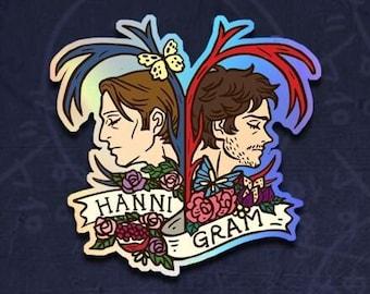 Hahnnigram Heart_Holographic sticker