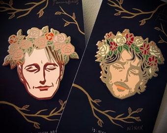Hannibal series enamel pin set