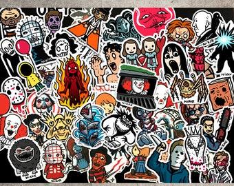 Horror / cult movie A - sticker set