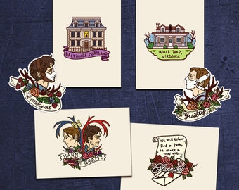 Hannibal stickers & mini prints vol.2