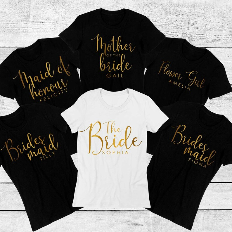 adcfb099 Personalised Hen Party T shirt bridal party top for the | Etsy