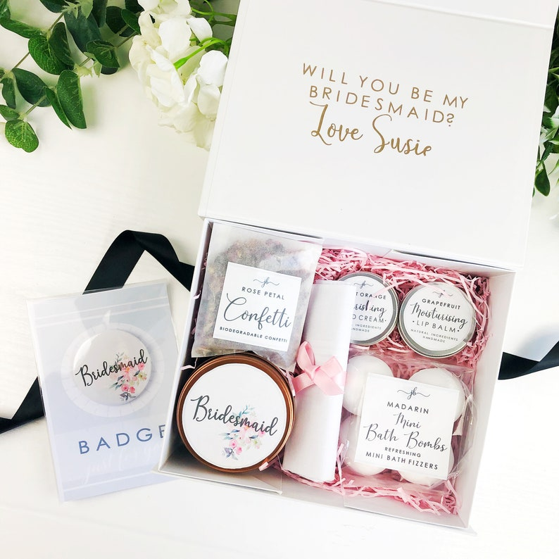 Pre filled will you be my Bridesmaid box. Personalised image 0