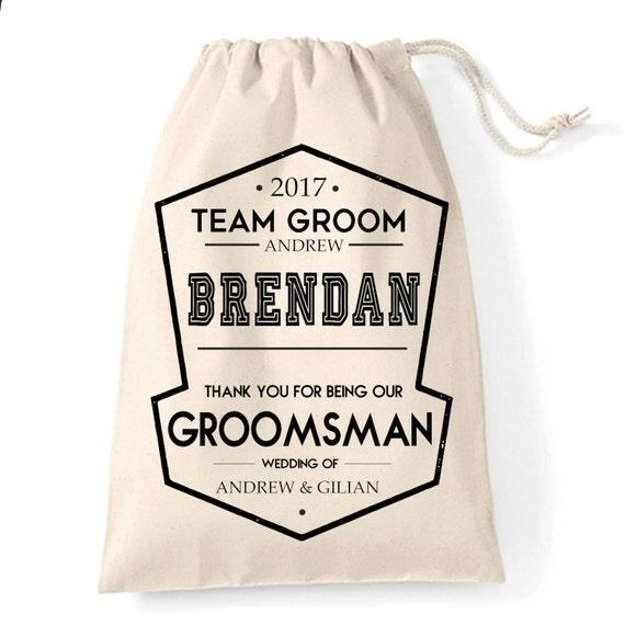 Personalised Groomsman Usher Best Man Wedding Favour Thank You