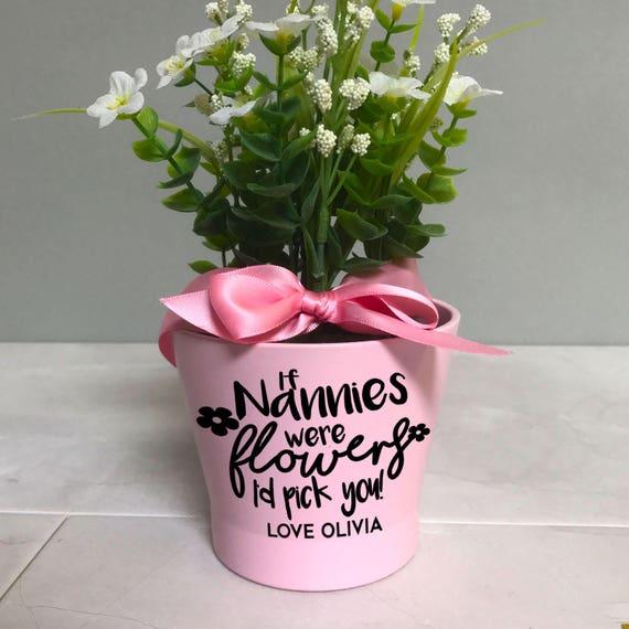 Moederdag Pot Bloemgift Gepersonaliseerde Plant Pot Voor Nanny Oma Oma Nana Kleine Roze Bloempot