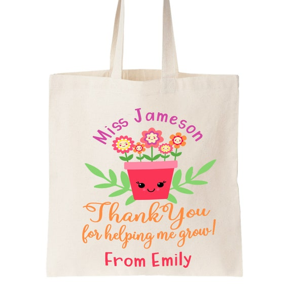 Personalised teacher thank you tote bag /'year ruled!/' owl school end term gift