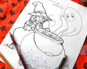 Halloween Coloring Book / Samhain Coloring Book / 3 Coloring Pages