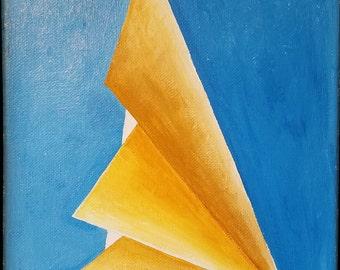 Profile - unique original acrylic painting on canvas