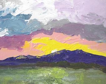 Morning Sun Original Acrylic Painting 8 x 10