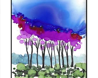 Instant Download Trees Wall Art, Printable Art, Digital Art