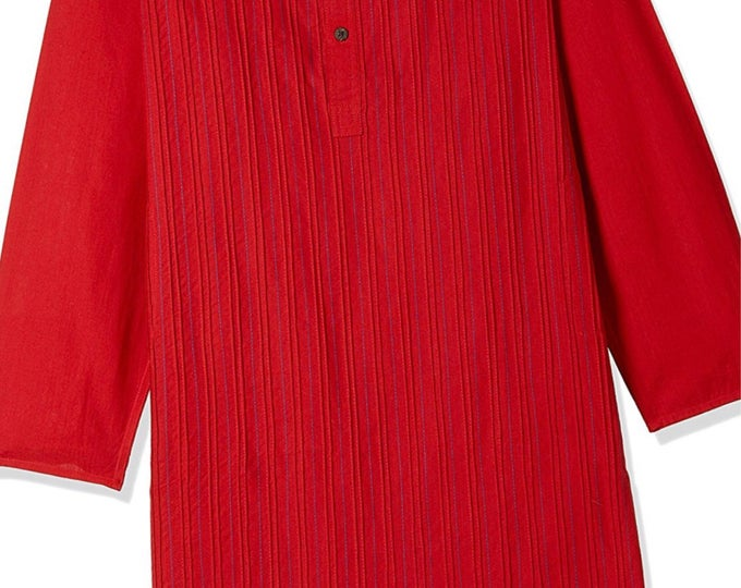 Boys Red Cotton Kurtas for Summer casual wear, party wear, weddings, marriages, Diwali , Holi, Birthday, Navratri, garba, dance, India