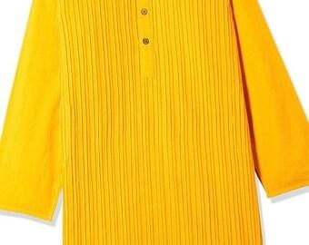 ON SALE Boys Yellow Cotton Kurta for Summer casual wear, party wear, weddings, marriages, Diwali , Holi, Birthday, Navratri, garba, dance, I