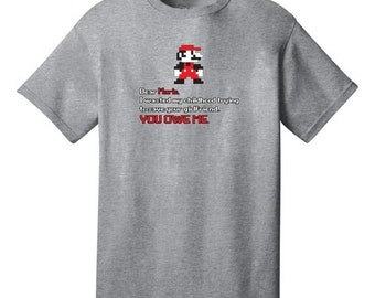 ON SALE Dear Mario I Wasted My Childhood You Owe Me Funny T-Shirt - Best gifts for Family, Friends & Colleagues. Birthday or Christmas Gifts
