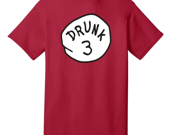 DRUNK 3 Funny T-Shirt - Best gifts for Family, Friends & Colleagues. Birthday or Christmas Gifts!