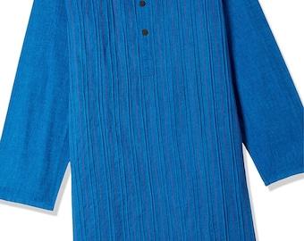 Boys Blue Cotton Kurtas for Summer casual park wear, party wear, weddings, marriages, Diwali , Holi, Birthday, Navratri, garba, dance, India