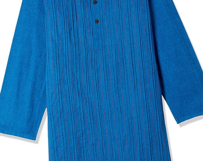 Boys Blue Cotton Kurtas for Summer casual park wear, party wear, weddings, marriages, Diwali , Holi, Birthday, Navratri, garba, dance, India