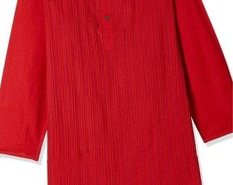 ON SALE Boys Red Cotton Kurtas for Summer casual wear, party wear, weddings, marriages, Diwali , Holi, Birthday, Navratri, garba, dance, Ind