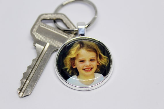 Personalized Photo Keychain In Gift Box Car Keys Etsy