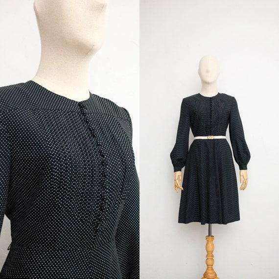 Hanae Mori 70s Vintage Dress | Japanese Designer V