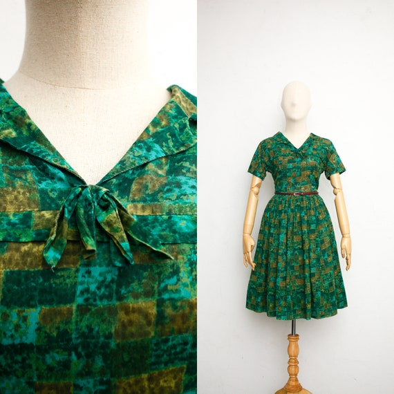 Vintage 50s Dress | Vintage Shirtwaist Dress | She