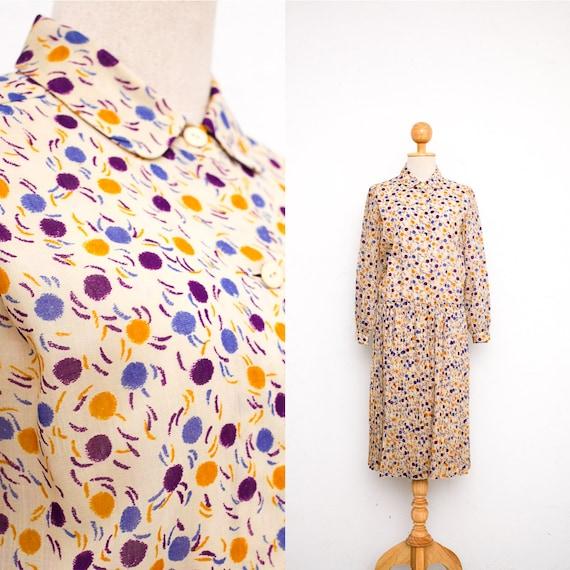 Pierre Cardin Dress | Vintage 1980s Dress | Wool S