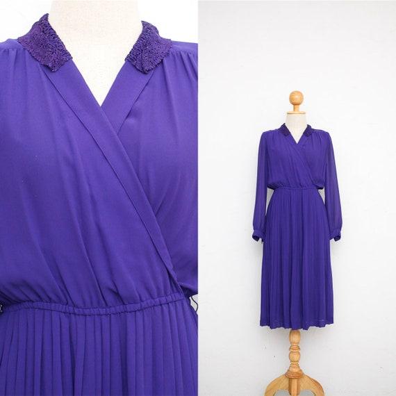 0972962f44 Vintage Dress 70s Japanese Vintage Dress Iris Purple Dress