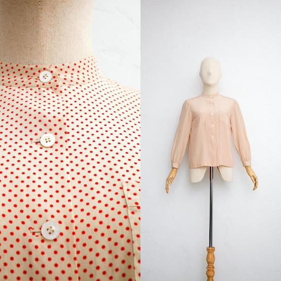 80s Vintage Pierre Balmain Silk Blouse   Minimalis