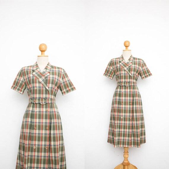 232b8c86ba3 Vintage Burberry Dress Vintage 80s Dress Cotton Shirt