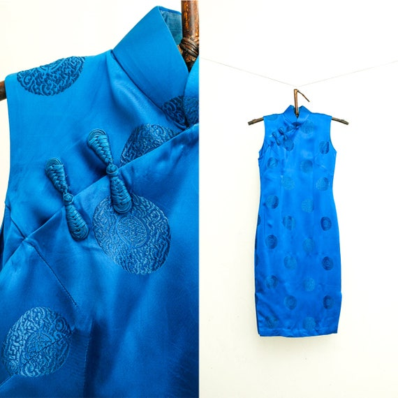 Jahrgang Seide Cheongsam Kleid Vintage chinesischen Kleid | Etsy