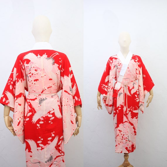 Antique Japanese Kimono | 20s 30s Traditional Silk