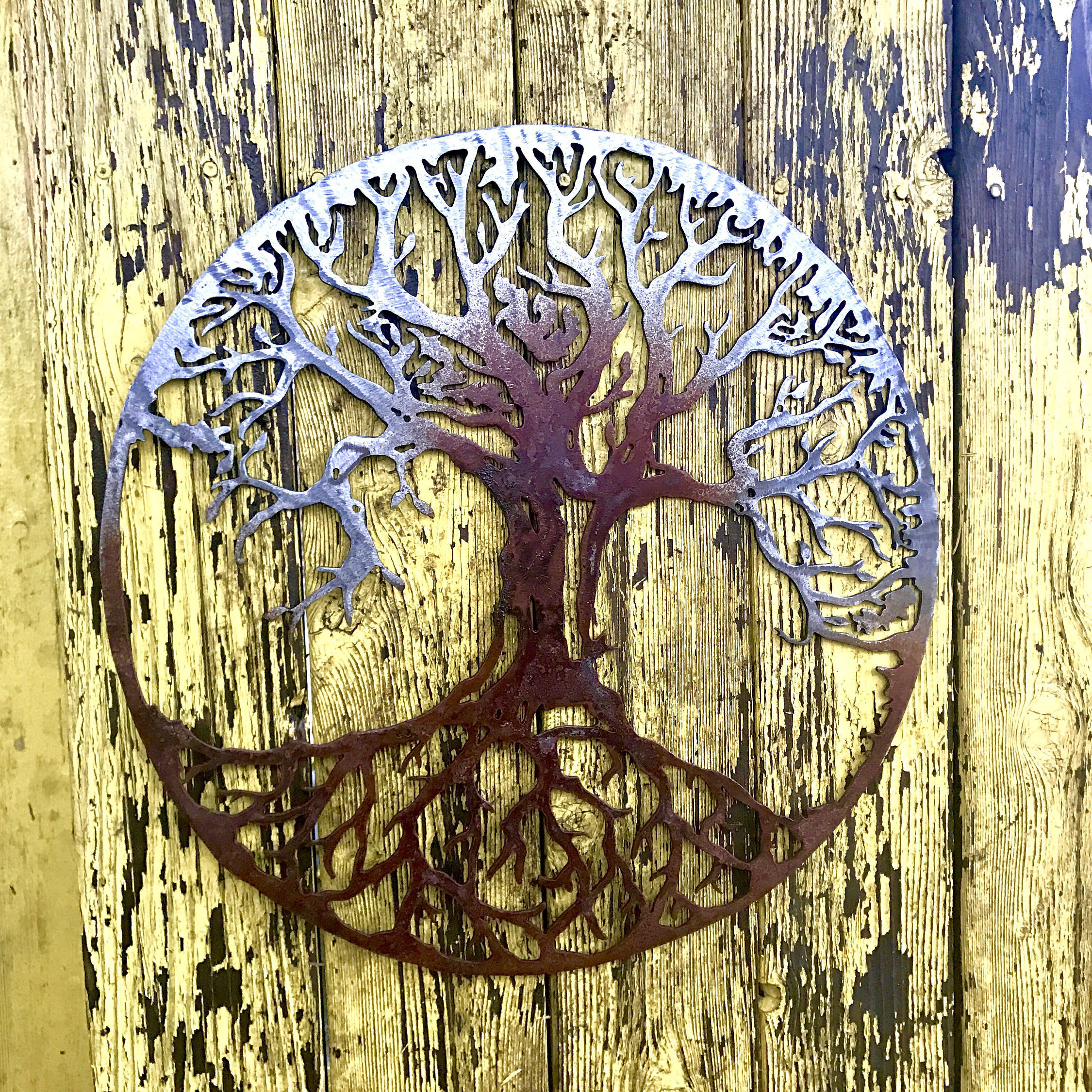 Tree of Life Metal Tree Metal Art Living Room Decor   Etsy