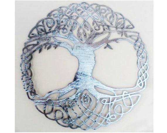 Metal Wall Art Tree Living Room Decor Celtic Knot Tree Of Life Etsy