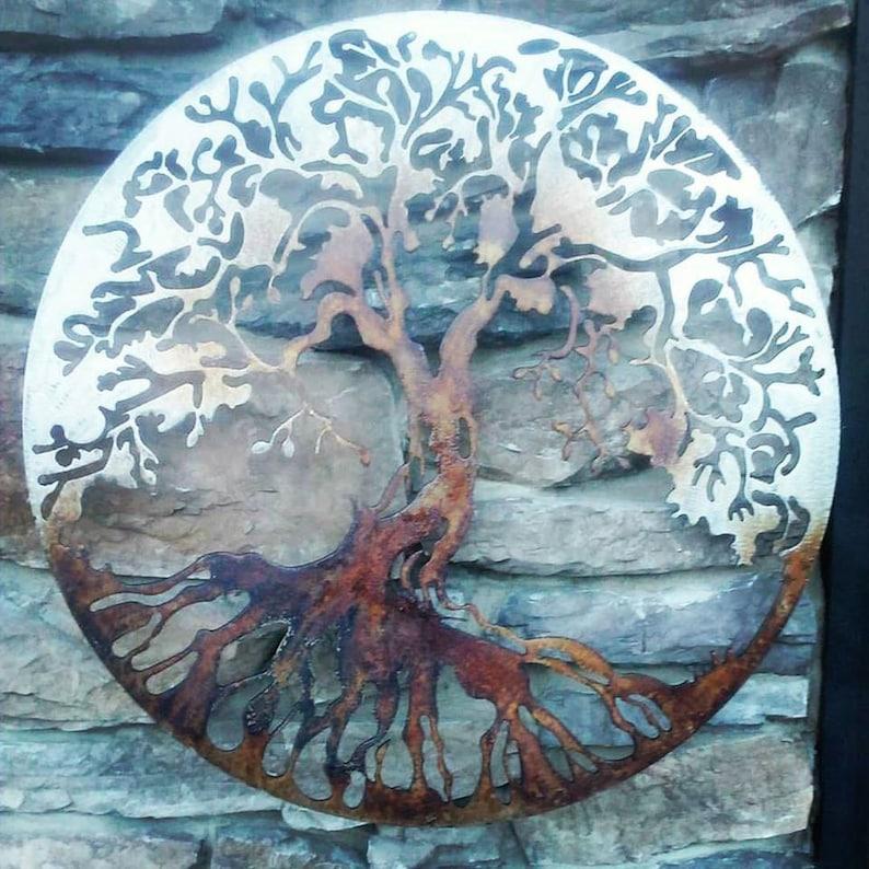 Tree of Life Metal Art Living Room Decor Metal Wall Art | Etsy