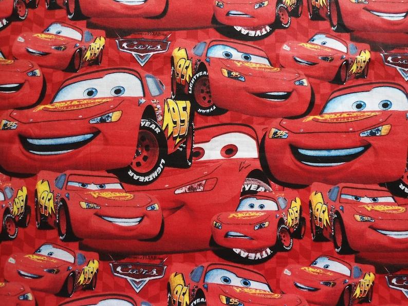 Lightning McQueen Fabric, Disney Cars Fabric, Lightning McQueen, 54