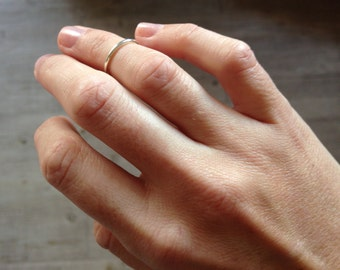 Knuckle ring, simple ring in sterling silver