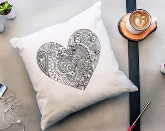 Pillow color perfect for Valentine's sweetheart