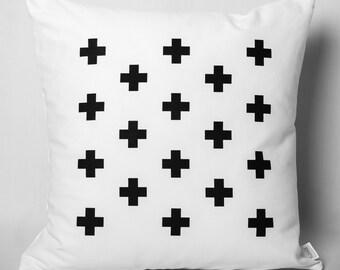 Cushion black & white: cross