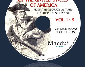 Lossing's history of the United States from the aboriginal times to the present day 1913 Vintage Books 8 PDF E-Books on 1 DVD