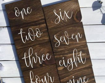 Wood Table Numbers - Wedding Table Numbers,Event Table Numbers,Table Numbers Wood,Wedding Decor,Table Numbers,Table Numbers for Wedding