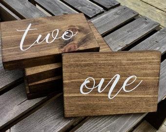 Wood Table Numbers - Rustic Wood Table Numbers,Table Numbers,Table Numbers wood,Wedding Decor,Wedding Table Numbers,