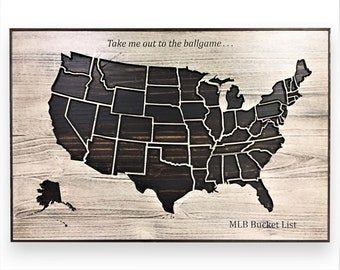 States visited map   Etsy