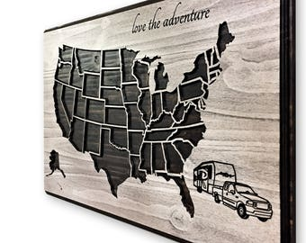 Rv state map | Etsy