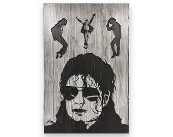 3D Wall Art, Carved, Michael Jackson Art, King of Pop, Wood Wall Art, MJ Wall Decor, Gift for Musician, Print, Poster, Canvas, Painting