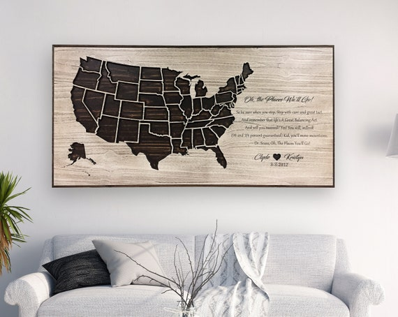 anniversary gift oh the places we ll go quote art dr etsy