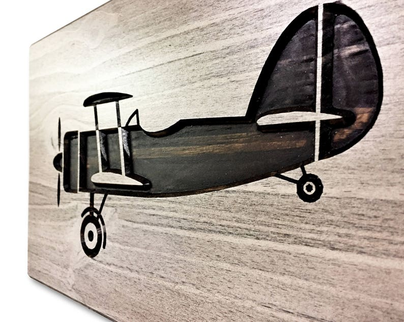 Plane Picture of Airplane 3D Art Distressed Wood Airplane Art Carved Gift Idea Rustic Home Wall Decor Engraved Wood Wall Art
