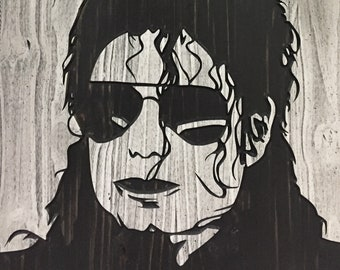 Michael Jackson Art, The King of Pop, 3D Wall Art, Carved, Wood Wall Art, MJ Wall Decor, Gift for Musician, Print, Poster, Canvas, Painting