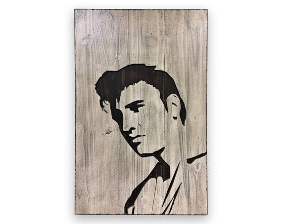 Elvis Presley All Rock and Roll Singer Painting Canvas Print Art Home Decor Wall