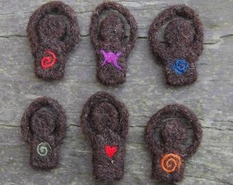 Goddess Pendant - Hippie Boho Jewellery Needle Felted Art Doll - Wiccan Jewelery - Pagan Art Goddess - Miniature Travel Witchcraft Necklace