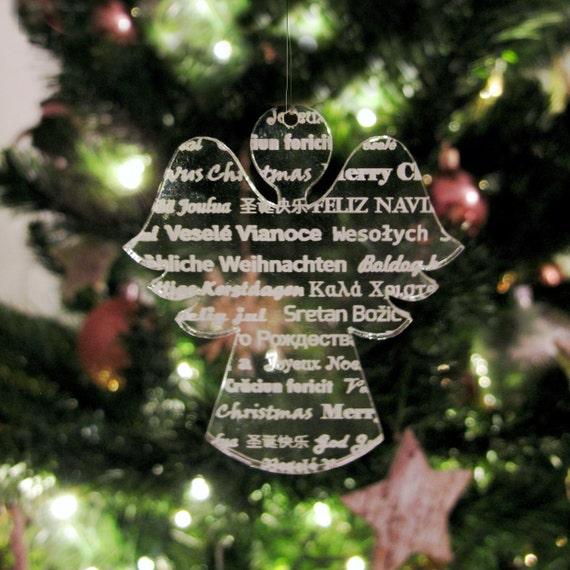 Weihnachtsengel Weihnachtsdekoration Modern Laser | Etsy
