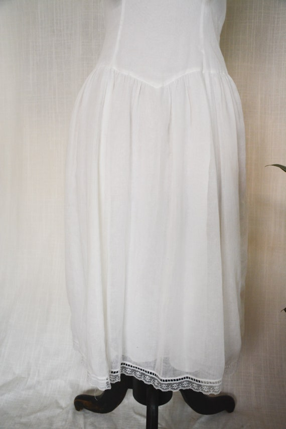 Vintage Gauzy White Gunne Sax Sailor Dress - image 3